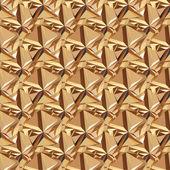Gold seamless polygonal pattern. — 图库矢量图片
