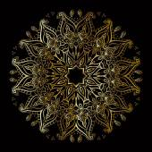 Gold-mandala — Stockvektor