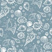 Seamless pattern of Sea shells. — Stock Vector