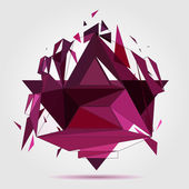Crushed geometric object. — Stock Vector
