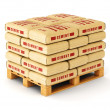 Cement bags on pallet — Stock Photo #74074991