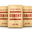 Group of cement bags — Stock Photo #76748951
