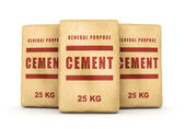 Group of cement bags — Stock Photo
