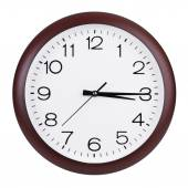 Clock shows fifteen minutes of the fourth — Stock Photo