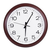 Five minutes past six on a dial — Stock Photo
