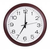 Round the clock shows seven o'clock — Foto Stock