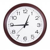 Clock shows a quarter hour — Stock Photo