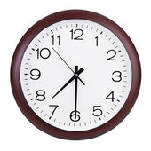 Round clock shows half past seven — Stock Photo