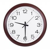 Round clock shows half past nine — Stock Photo