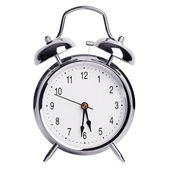 Round metal alarm clock — Стоковое фото