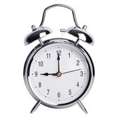 Exactly nine o'clock on alarm clock — Stock Photo