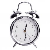 Half past twelve on an alarm clock — Stock Photo