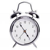Five minutes to five on an alarm clock — Foto de Stock