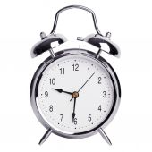 Half past nine on an alarm clock — Stock Photo