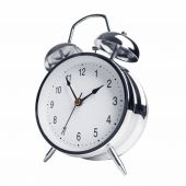 Five minutes to two on the alarm clock — Stock Photo