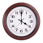 Four hours on a round clock — Stock Photo