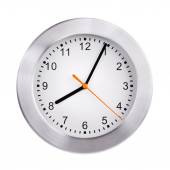 Clock shows five minutes of the ninth — Stock Photo