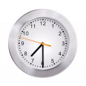 Office clock shows half past seven — Stock Photo