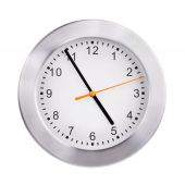 Office round clock shows almost five hours — Stock Photo