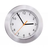 Large clock shows five minutes to three — Stock Photo