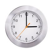 Three hours on the round clock — Stock Photo