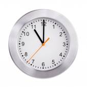 Exactly eleven hours on a round dial — Stock Photo