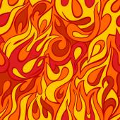 Fire flame seamless pattern — Stock Vector