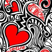 Love Valentine seamless pattern — 图库矢量图片