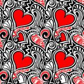Liebe Valentine nahtlose Muster — Stockvektor