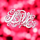 Symbol of love and Valentines day lettering — Stock vektor