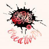 Símbolo del corazón de amor y letras día de San Valentín — Vector de stock