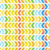 Navajo aztec textile inspiration watercolor pattern. Native amer — Stock Vector