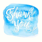 """Calligraphic hand drawn watercolor lettering vector poster.""""Than — Stock Vector"""