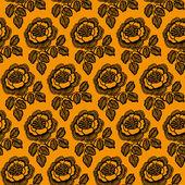 Vintage motif floral sans soudure. — Vecteur