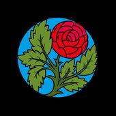 Vintage vignette with rose flower — Stock Vector
