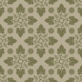 Beige seamless background with floral elements. — Cтоковый вектор