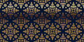 Vector card with gold floral pattern. — Stockvektor