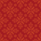 Floral red seamless pattern. — Stock Vector