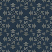 Floral blue seamless pattern. — Stock Vector