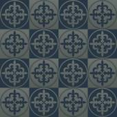 Silver seamless pattern on a dark blue background. — Stock Vector
