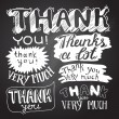 Thank You card with Chalkboard Background — Stock Vector #62239205
