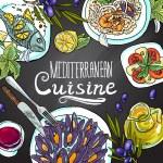 Mediterranean cuisine — Stock Vector #62239265