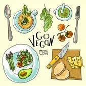 Vegetarian food illustration — Wektor stockowy