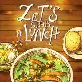 Lunch- vector illustration — Stock Vector