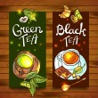 Tea banners — Stock Vector #62787927