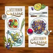 Vertical banners mediterranean cuisine — Stock Vector