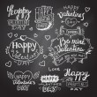 Happy Valentines Day Hand Lettering — Stock Vector #63050709