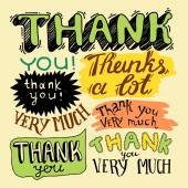 Thank you- hand lettering — Stock Vector