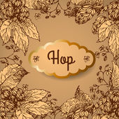 Hop. Vector illustration. — Stock Vector
