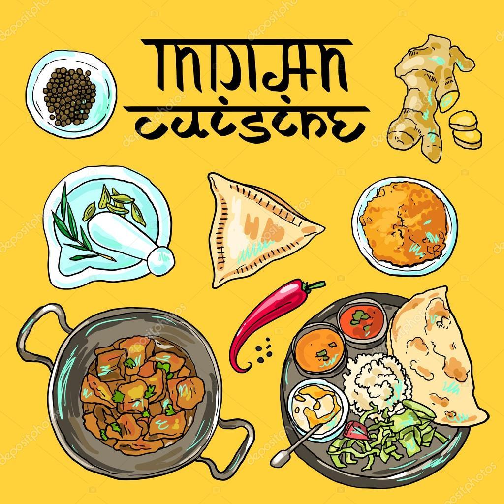 Индийская кухня рисунок